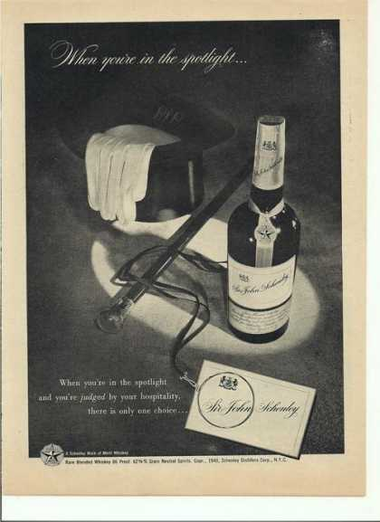 Sir John Schenley Whiskey (1948)