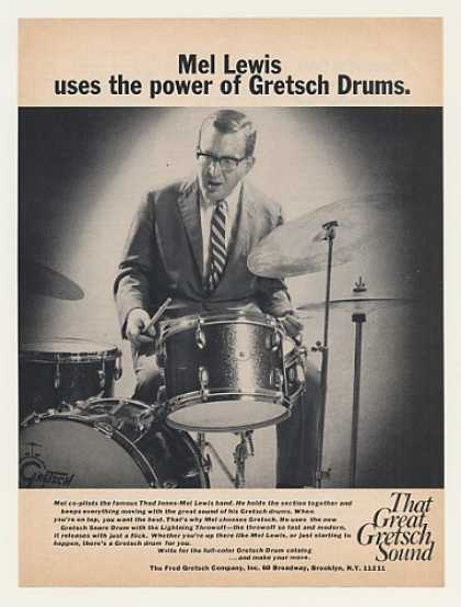 Mel Lewis Gretsch Drums Photo (1970)