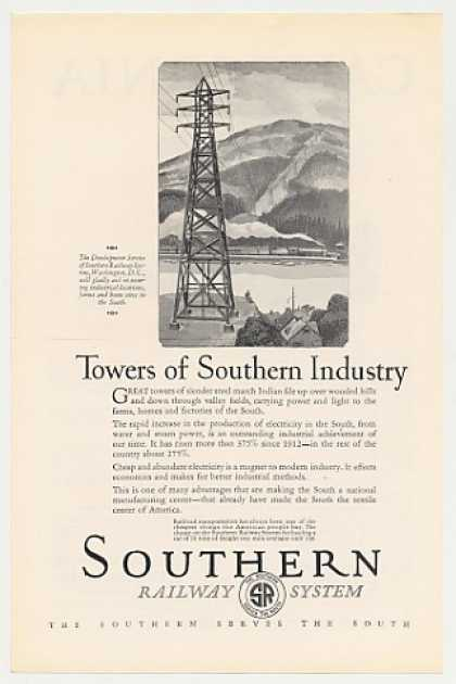 Southern Railway System Electric Towers (1926)