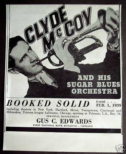 Clyde Mccoy and His Sugar Blues Orchestra Music (1938)