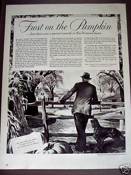 Frost On the Pumpkin Art Ny Life Insurance (1950)