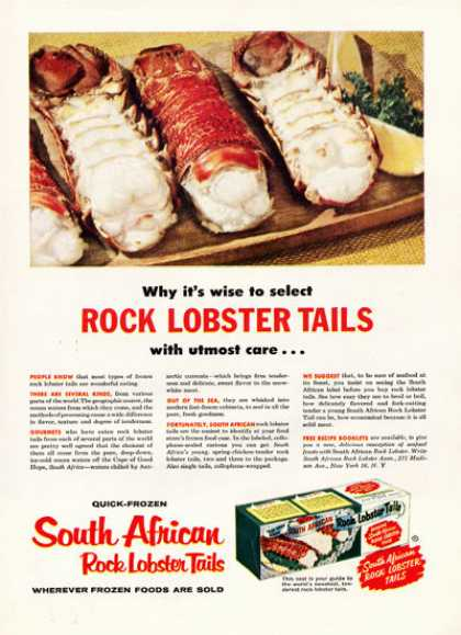South African Rock Lobster Tails (1957)