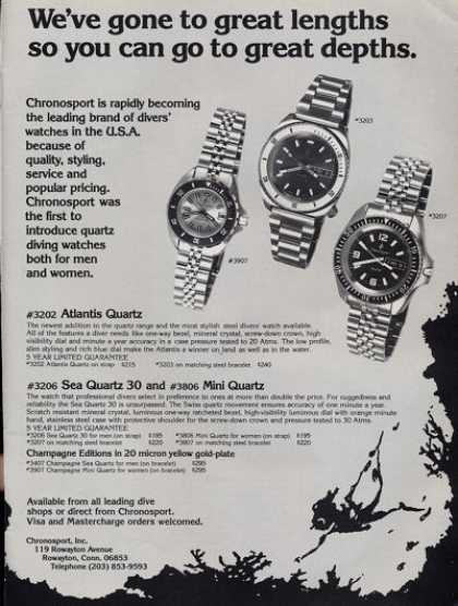 Chronosport Scuba Diving Watch Quartz Ad T (1979)