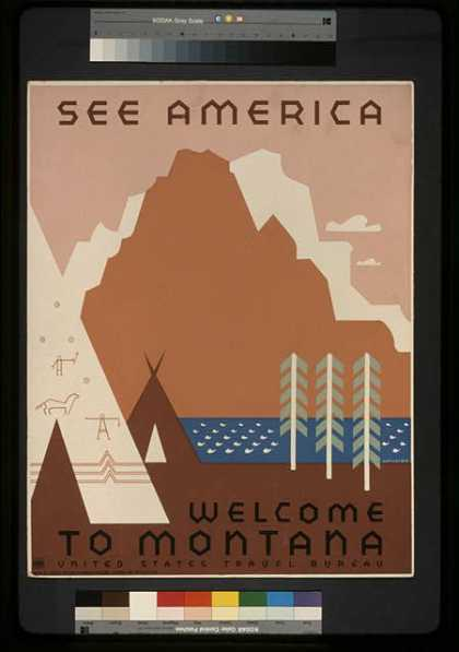 See America – Welcome to Montana / Rothstein. (1936)