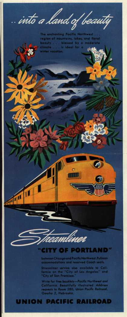 Union Pacific Railroad's Pacific Northwest – ...into a land of beauty (1949)