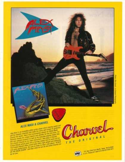 Alex Masi Photo Charvel Guitar (1990)