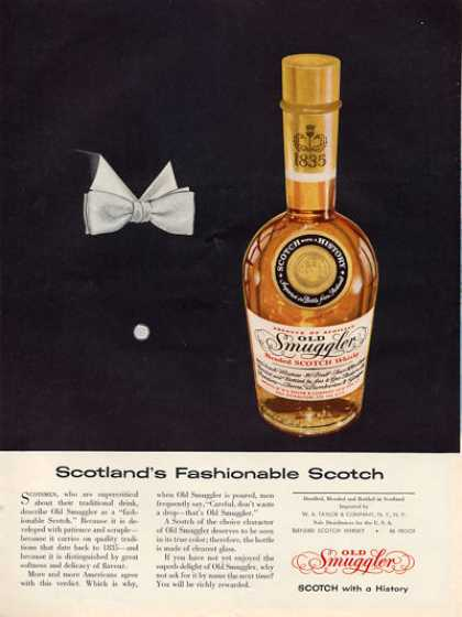 Old Smuggler Scotch Whisky Bottle (1956)