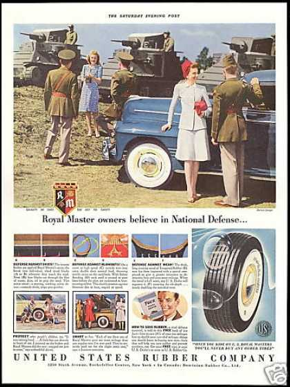Military Tanks US Royal Master Tire US Rubber (1941)