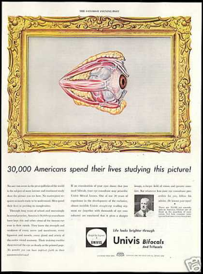 Univis Bifocal Lenses Glasses Eye Consultant (1946)