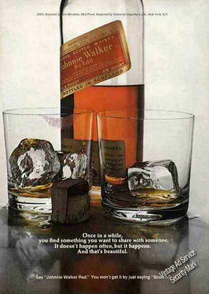 Johnnie Walker Red Lipstick On Glass (1972)