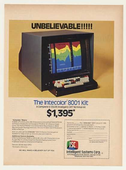 Intelligent Systems ISC Intecolor 8001 Computer (1976)