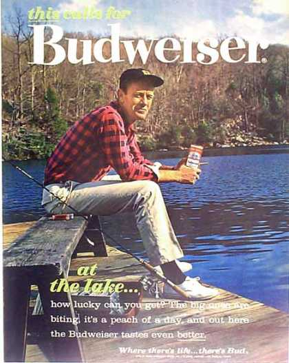 Budweiser Beer – At the Lake – Sold (1962)