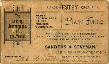 Sanders & Stayman's pianos and organs – Piano Fortes