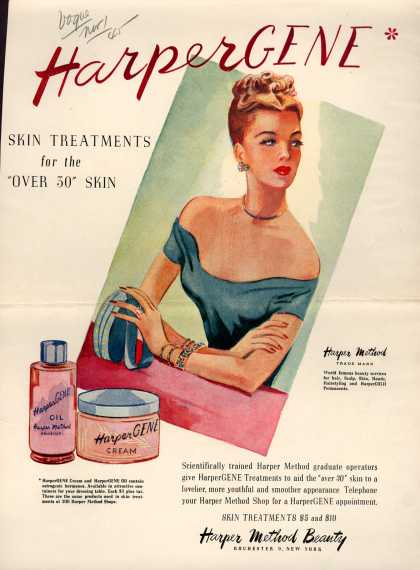 "Harper Method's Skin Treatments – HarperGene Skin Treatments for the ""Over 30"" Skin (1945)"