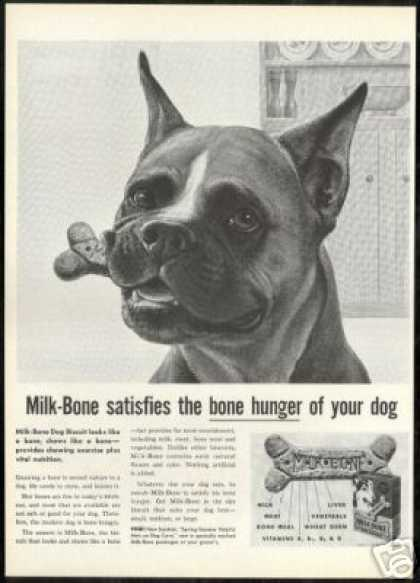 Boxer Art Milk Bone Dog Biscuits Vintage (1959)