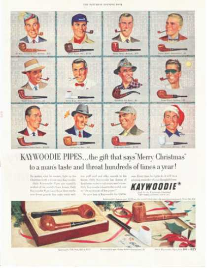 Kaywoodie Tobacco Smoking Pipe 12 Models (1952)