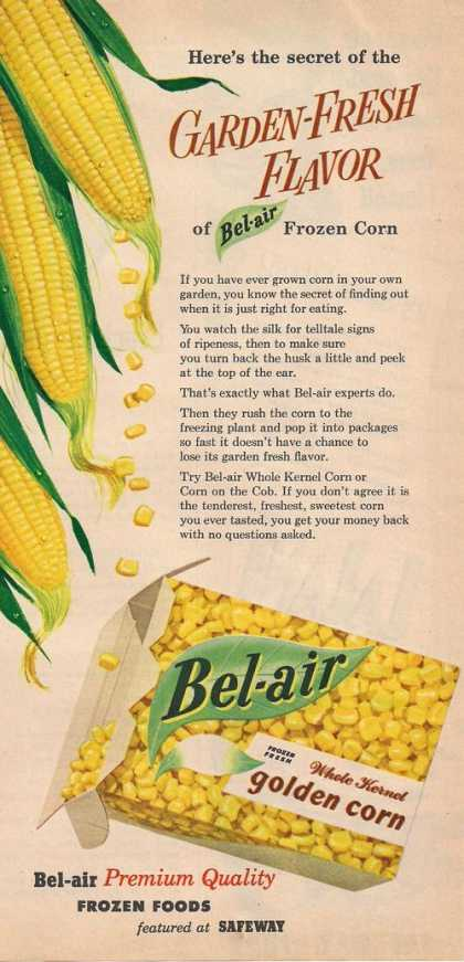 Bel Air Golden Frozen Whole Kerned Corn (1953)