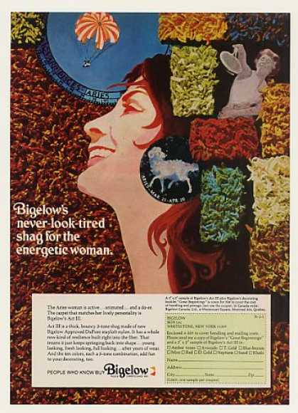 Bigelow Act III Shag Carpet Aries Woman (1971)