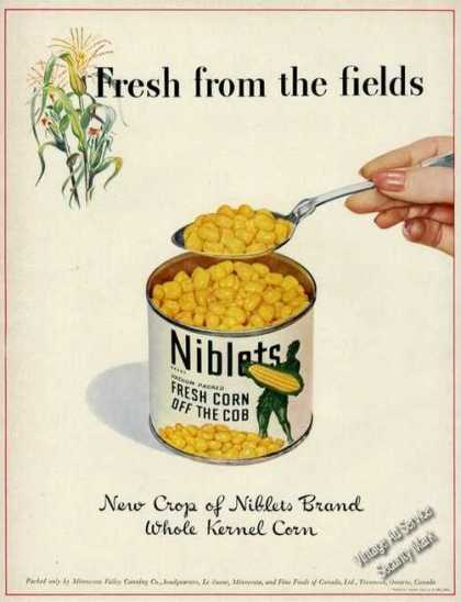 Niblets Corn Off the Cob Rare (1942)