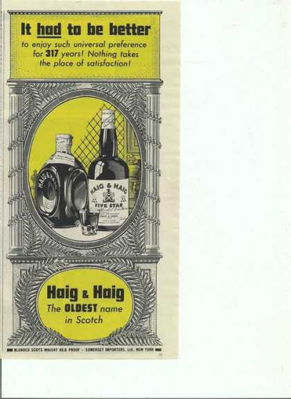 Haig & Haig Oldest Scotch (1944)