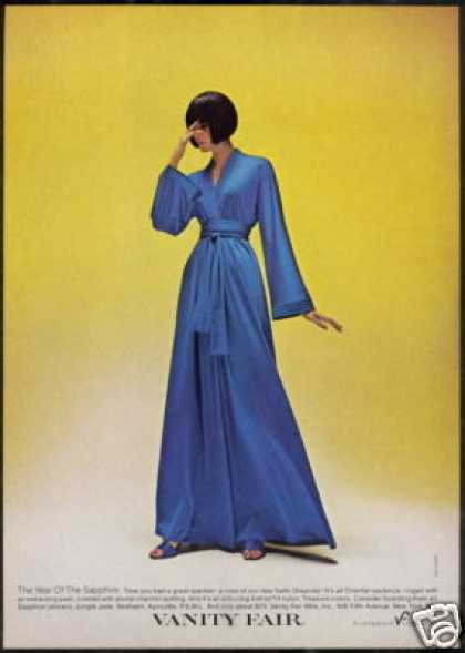 Vanity Fair Blue Robe Fashion Lingerie Photo (1976)