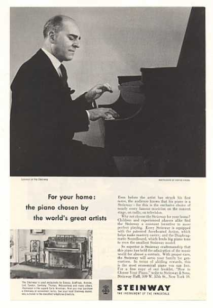 Solomon Plays Steinway Piano Photo (1952)