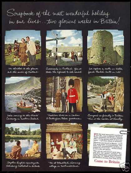 Travel to Britian 8 Photo Vintage (1952)