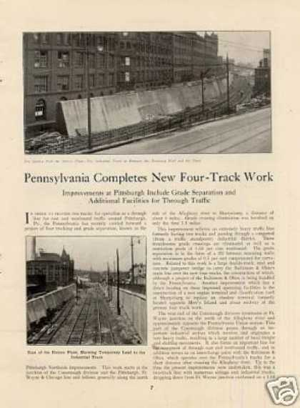 """Prr Completes New Four-track Work"" Article (1924)"