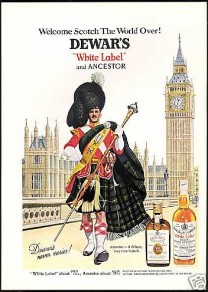England Big Ben Dewar's WL Ancestor Scotch (1967)