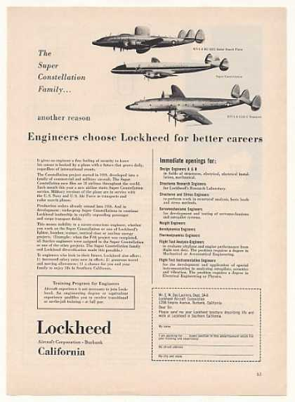 '54 Lockheed Super Constellation Family Engineer Job (1954)