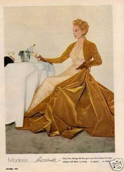 Modess Ad Lady In Gold Gown (1955)