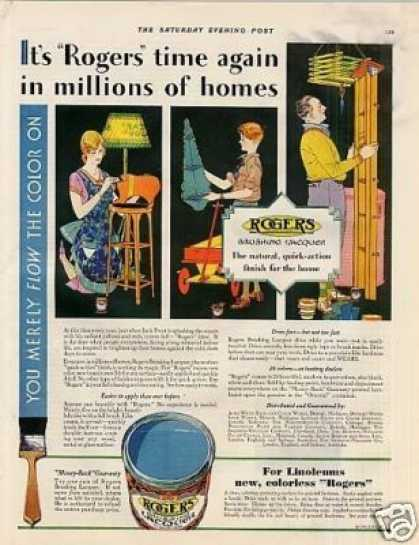 Rogers Brushing Lacquer Color (1930)