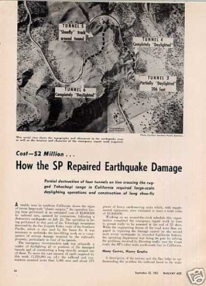 """How the Sp Repaired Earthquake Damage"" Article (1952)"