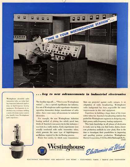 Westinghouse Electric Corporation's Radio Stations – ...key to new advancements in industrial electronics (1948)