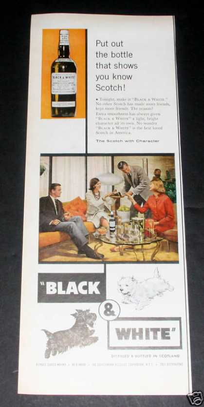 Black & White Whiskey, Scotty Dogs (1961)