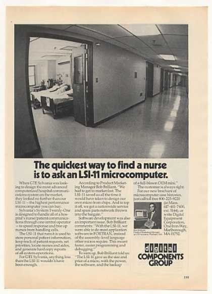 &#8217;77 Digital LSI-11 Microcomputer GTE Hospital System (1977)