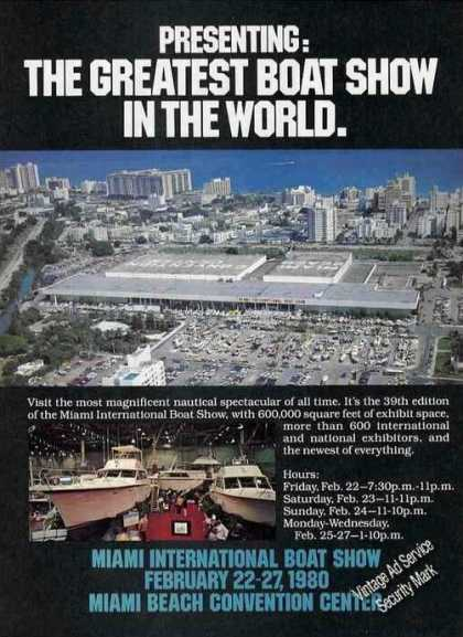 Miami International Boat Show Promo/photos (1980)