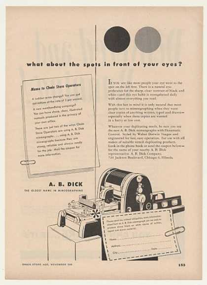 A.B. Dick Mimeograph Machine (1948)