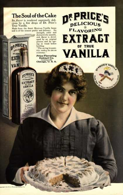 Dr Price's Vanilla Maids Servants, USA (1900)