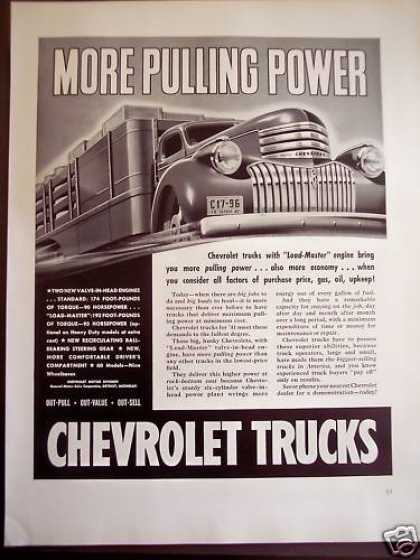 Chevrolet Trucks Hauls Big Loads (1941)