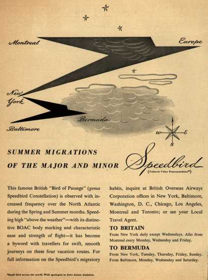 British Overseas Airways Corporation's The Speedbird Aircraft – Summer Migrations of the Major and Minor Speedbird (1948)