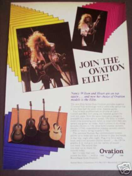 Nancy Wilson of Heart Photo Ovation Guitar (1986)