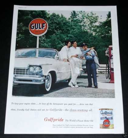 Old , Gulf Oil, Gulfpride, Pump (1957)