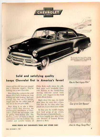 Chevrolet Car – Styleline De Luxe Sedan – Sold (1952)