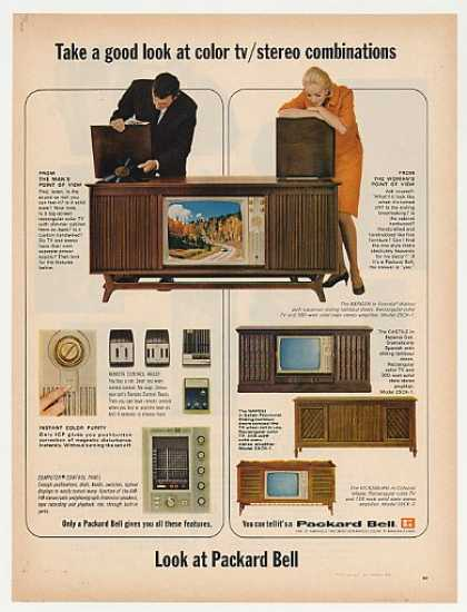 Packard Bell Color TV Stereo Combo 4 Models (1965)