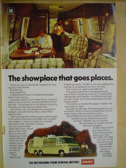 GMC Motorhomes The showplace that goes places (1977)