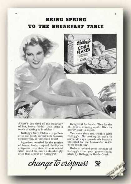 Kellogg's Corn Flakes Change To Crispness (1939)