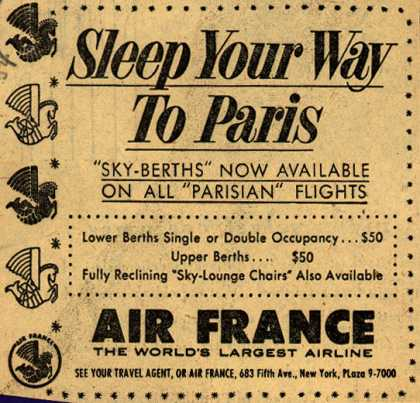 Air France's Sky Berths – Sleep Your Way To Paris (1954)
