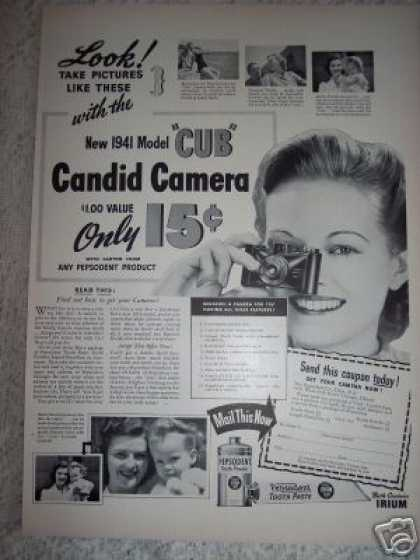Cub Camera Offer Pepsodent (1941)