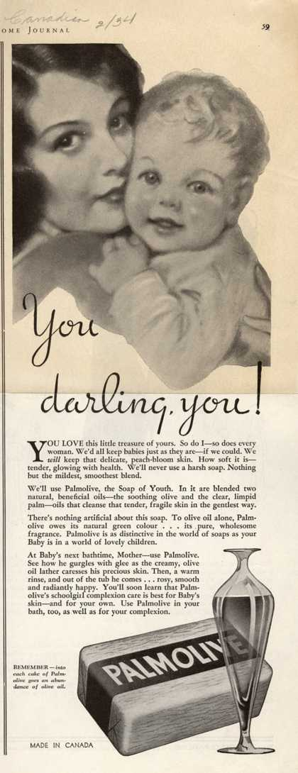 Palmolive Company's Palmolive Soap – You darling, you (1934)
